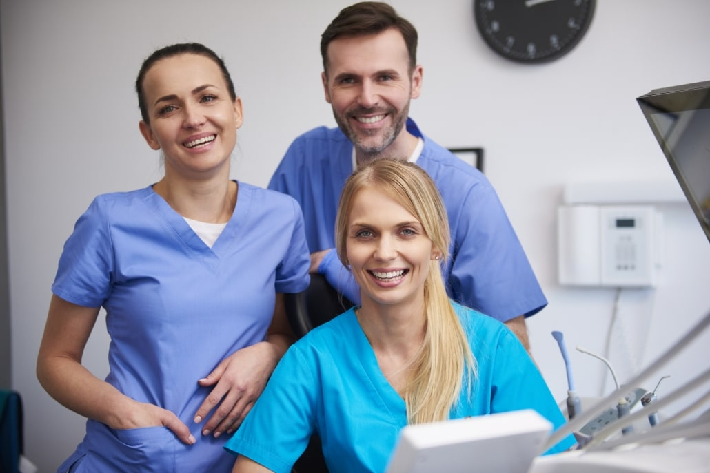 Smiling group of medical professionals